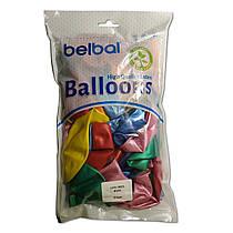 """Воздушные шары Belbal металлик 12""""(30 см) ассорти 50 шт"""