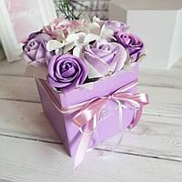 Букет на 8 марта подарок из мыла, ароматных роз