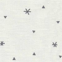 Ткань для вышивки Zweigart Belfast 32 ct  3609/1369 Dark Grey Sparkle on White Linen / Белый с графитовыми снежинками