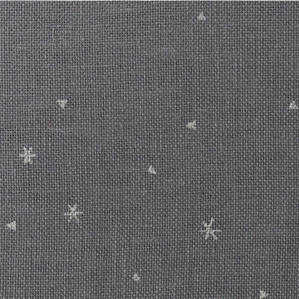 Ткань для вышивки Zweigart Belfast 32 ct  3609/7459 Dark Grey Linen Brushed Silver / Темно серый с серебряными снежинками