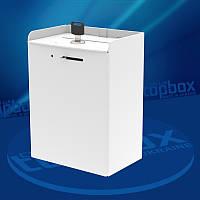 Белый ящик для сбора пожертвований 150x200x100 мм, объем 3 л.