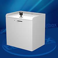 Ящик белого цвета для пожертвований 200x200x150 мм, объем 6 л.