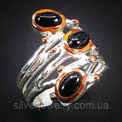 Серебряное кольцо с ШПИНЕЛЬЮ (натуральная) , серебро 925 пр. Размер 18
