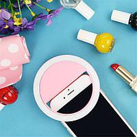 Светодиодное селфи кольцо Selfie Ring Light РОЗОВОЕ