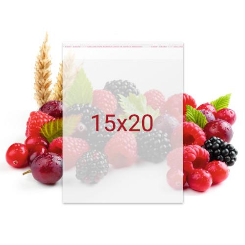 Пакет с клейкой лентой для конфет - 15x20 см, 100 шт