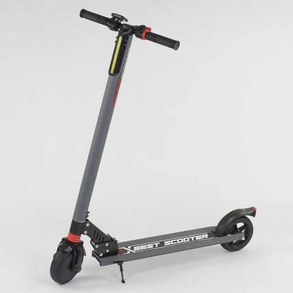 """Электросамокат 83325 (1) """"Best scooter"""" цвет СЕРЫЙ"""
