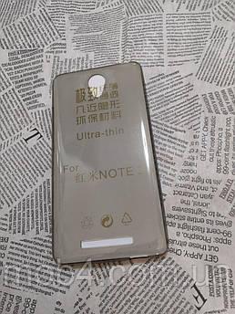 Ультратонкий 0,3 мм чехол для Xiaomi (Ксиоми) Redmi Note 2 серый