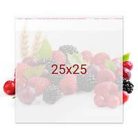 Пакет с клейкой лентой для конфет - 25x25 см, 100 шт