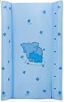 Пеленальний матрац Maltex м'який 50х80 см слоники, блакитний