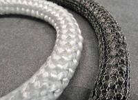 Шнур эластичный STЕ550 8мм термоизоляционный уплотнительный из стекловолокна для каминов, топок и дымоходов