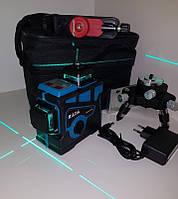 БИРЮЗОВЫЙ ЛУЧ ДО 50 МЕТРОВ!!! Лазерный уровень HILDA 3D +КРОНШТЕЙН