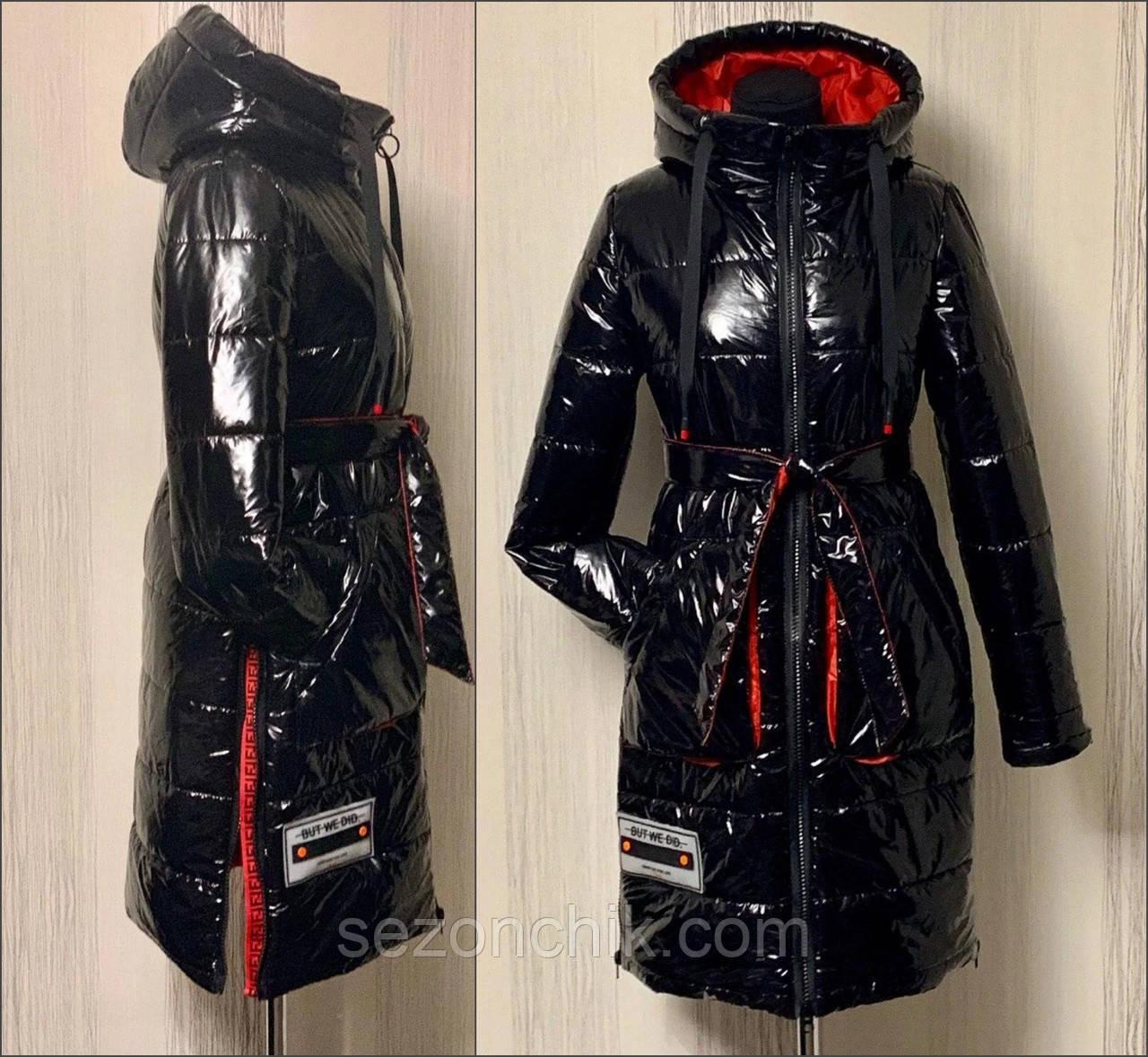 Женская куртка удлинённая под пояс