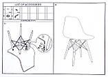 Стілець Тауер Вуд світло-сірий ніжки бук (безкоштовна доставка), фото 8