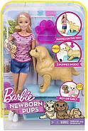 Кукла Barbie с собакой и новорожденными щенками Newborn Pups Doll and Pets, фото 2