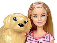 Кукла Barbie с собакой и новорожденными щенками Newborn Pups Doll and Pets, фото 4