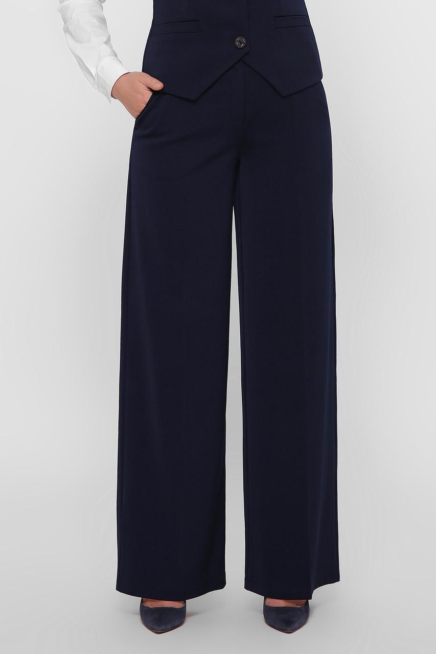Широкие женские брюки синие Джери