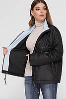 Куртка ветровка женская черная М-279