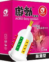 Презервативы с усиками и шипами для дополнительной стимуляции влагалища AOBO Sexy condom (Код 302/1) 13860