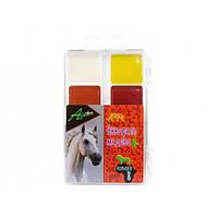 """Краски акварельные медовые """"Africa"""", 8 цветов, без кисти, пластик, Economix"""