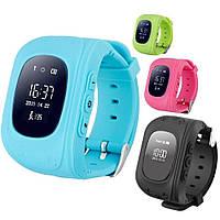 Детские умные часы Smart Watch Q50 (черные, темно-синий)