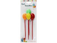 Набір Свічки для торта різнокольорові кульки на палочці (4 штук)