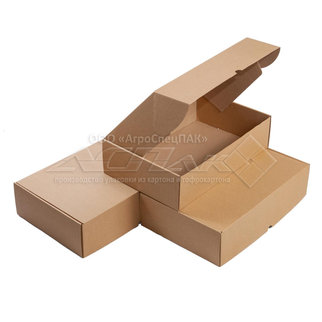 Картонные коробки 375*250*100 бурые