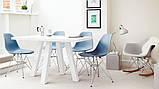 Стул Тауэр голубой пластик ножки хром СДМ группа (бесплатная доставка), фото 8