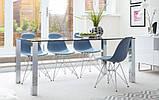 Стул Тауэр голубой пластик ножки хром СДМ группа (бесплатная доставка), фото 9