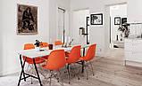 Стул Тауэр оранжевый пластик ножки хром СДМ группа (бесплатная доставка), фото 5