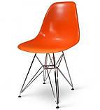 Стул Тауэр оранжевый пластик ножки хром СДМ группа (бесплатная доставка), фото 4