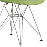 Стілець Тауер зелений пластик ніжки хром СДМ група (безкоштовна доставка), фото 7