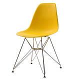 Стул Тауэр желтый пластик ножки хром СДМ группа (бесплатная доставка), фото 4