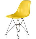 Стул Тауэр желтый пластик ножки хром СДМ группа (бесплатная доставка), фото 5