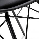 Стілець Тау м'який чорний пластик ніжки метал СДМ група (безкоштовна доставка), фото 10