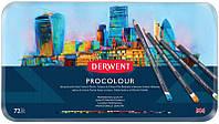 Набор цветных карандашей Procolour, 72цв. метал. Derwent