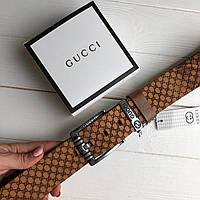 Мужской кожаный ремень Gucci 4.5 см. (реплика)