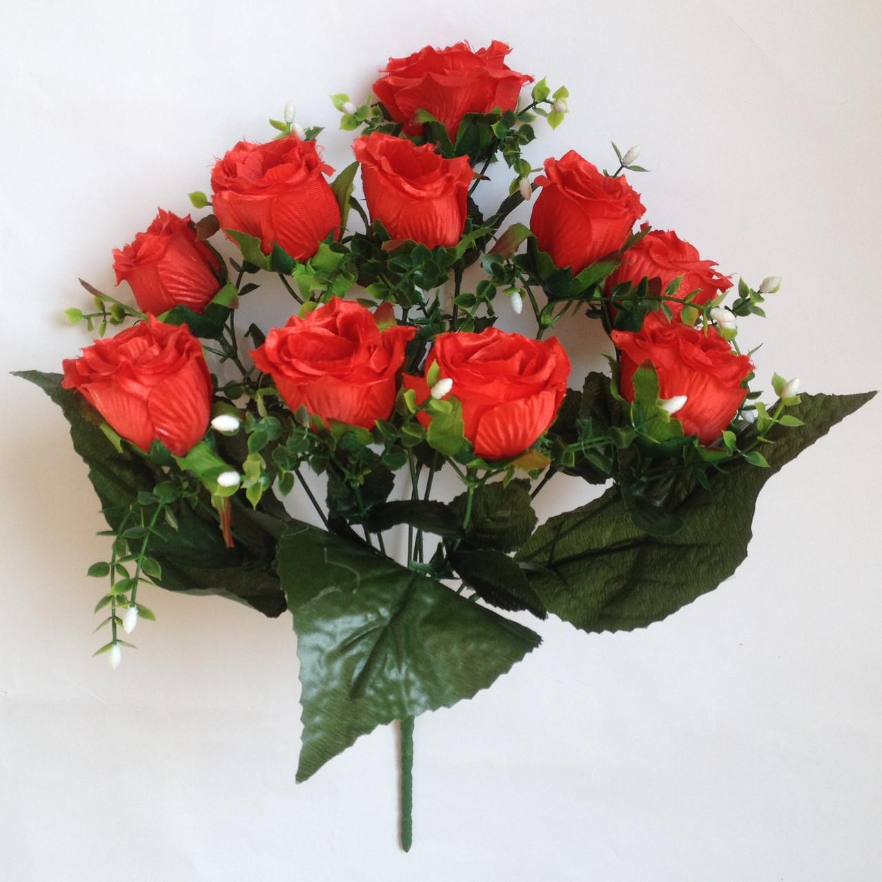 Роза Бутон с ягодами, 42см (10 шт в уп.)