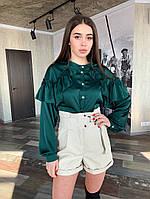 Женские шорты из матовой эко-кожи, фото 1
