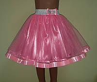 Дитяча рожева спідничка з фатину, на резинці