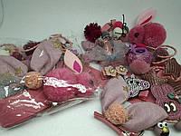 Набор заколок и резинок россыпью, 24 предмета для волос