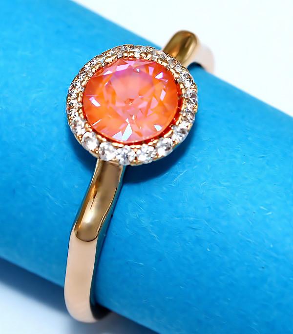 Кольца с кристаллами Swarovski фирмы XUPING. Цвет позолота. Есть: 17р. 18р.  Ширина: 9 мм.