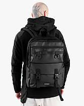 """Прочный мужской рюкзак """"CROSS-TOWN"""" на 19л, спортивний городской для путешествий, сумка для ноутбука, Черный, фото 2"""