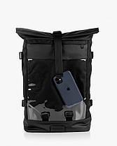 """Рюкзак """"MESH 1"""" глянец, чёрный,на 17л, сумка для ноутбука,унисекс, водоотталкивающий, повседневный, спортивный, фото 2"""