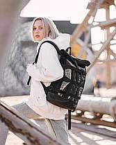 """Рюкзак """"MESH 1"""" глянец, чёрный,на 17л, сумка для ноутбука,унисекс, водоотталкивающий, повседневный, спортивный, фото 3"""