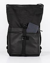 """Прочный мужской рюкзак """"ROLLTOP"""" черный, на 21л, сумка для ноутбука, повседневный, спортивный, для путешествия, фото 2"""