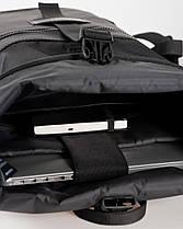 """Прочный мужской рюкзак """"ROLLTOP"""" черный, на 21л, сумка для ноутбука, повседневный, спортивный, для путешествия, фото 3"""
