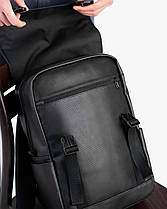"""Прочный мужской рюкзак """"UNIVERSAL MINI"""" черный, на 16л, сумка для ноутбука или планшета, повседневный, фото 2"""