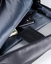 """Прочный мужской рюкзак """"UNIVERSAL MINI"""" черный, на 16л, сумка для ноутбука или планшета, повседневный, фото 3"""