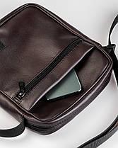 """Мужская сумка мессенджер """"MINI"""" коричневый, на 2л, повседневный, спортивный, экокожа, Harvest, фото 2"""