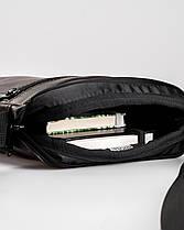 """Мужская сумка мессенджер """"MINI"""" коричневый, на 2л, повседневный, спортивный, экокожа, Harvest, фото 3"""